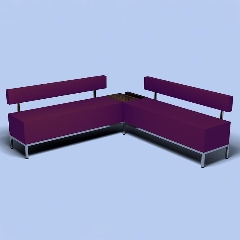 Retail seating salon benches salon seating furniture for Salon bench