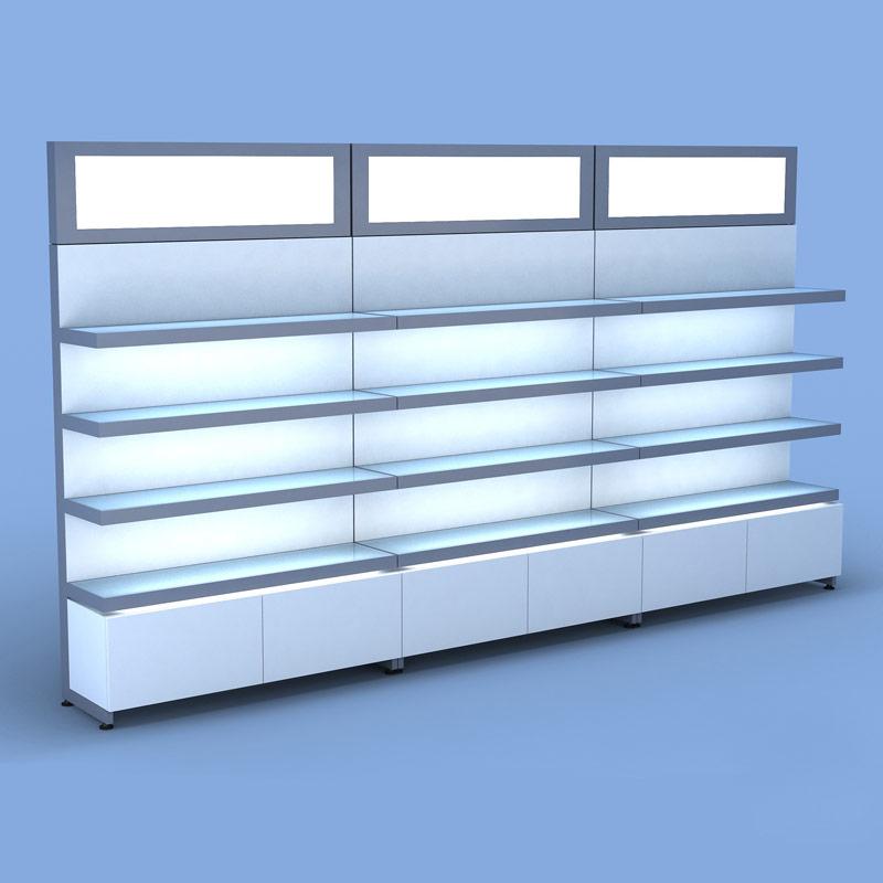 Wall Light Metal Box : Aveda Retail Wall Display w/ Metal Light Box Salon Furniture