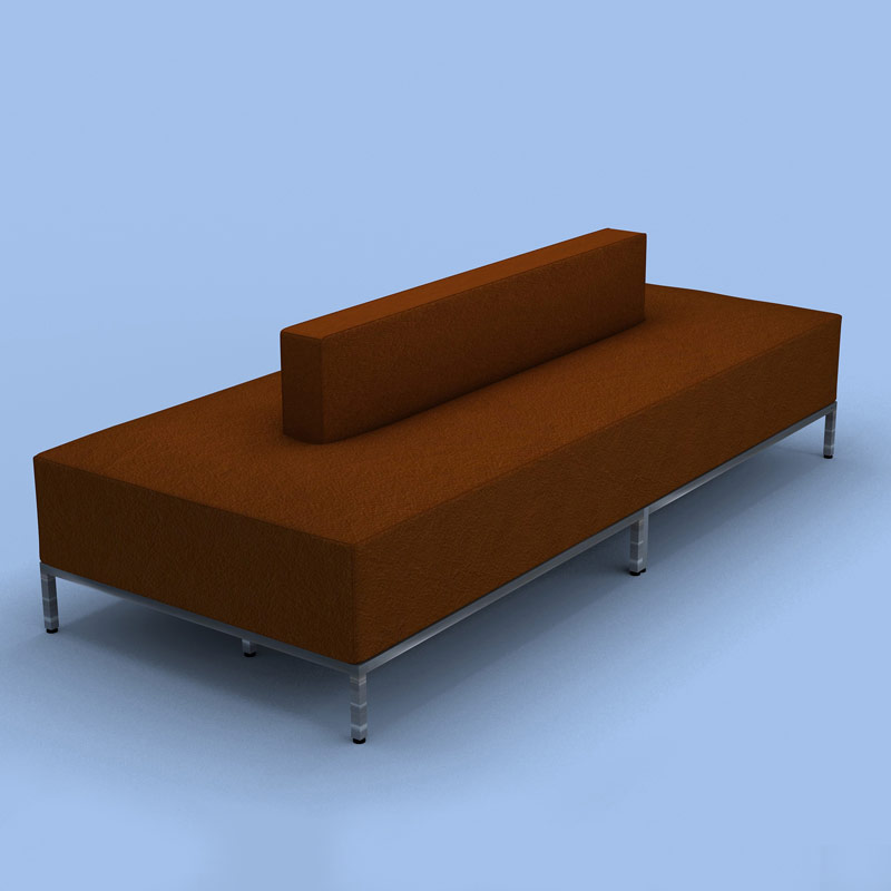 Double Sided Couch Benchmark Double Salon Retail Seating